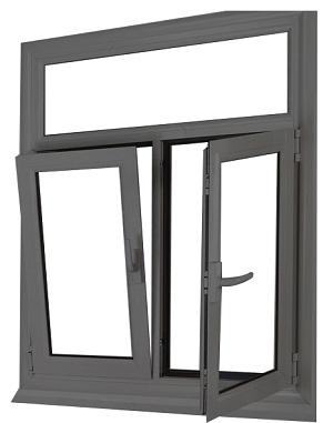 cửa sổ mở quay lật - cửa nhôm HOPO