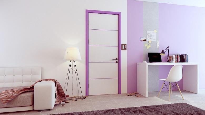 Cửa gỗ Duratek - dòng Color Life màu sắc nổi bật