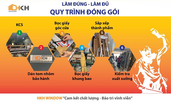 quy trình đóng gói HKH Window