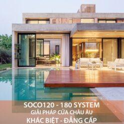 Cửa nhôm Soco120 - 180 System - HKH Window
