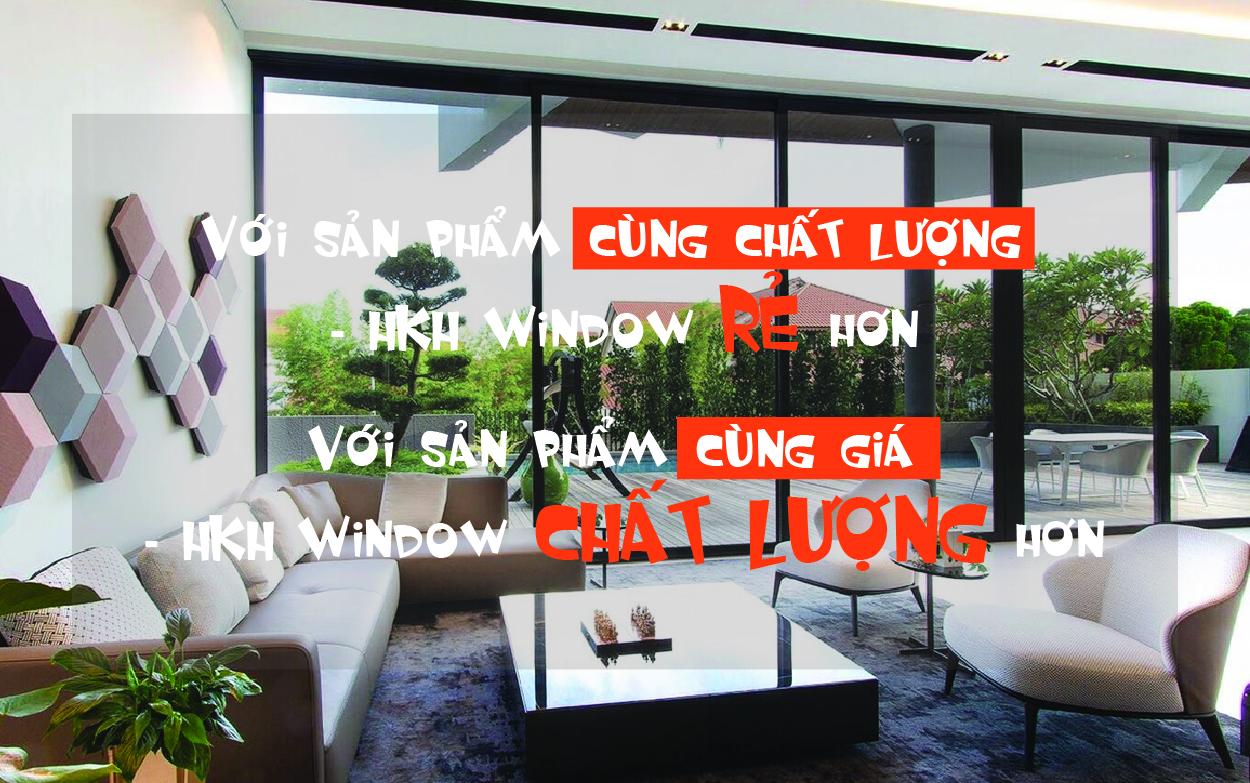hkh window thông báo không tăng giá bán cửa nhôm xingfa trong thời bão giá