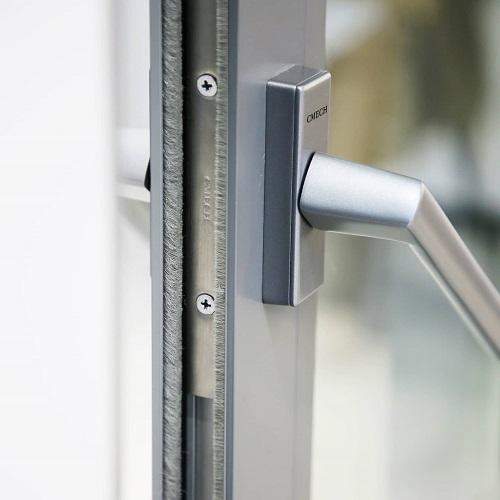 tay nắm cửa đi mở quay 4 cánh - tay nắm khóa cửa nhôm xingfa - hkh window